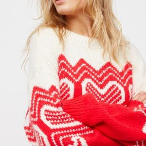 "Free People ""I heart you"" sweater"